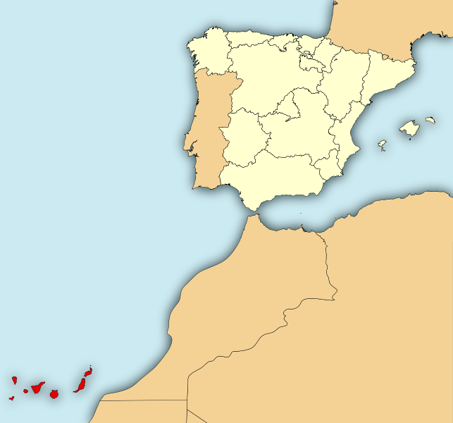 the trade winds canary islands map