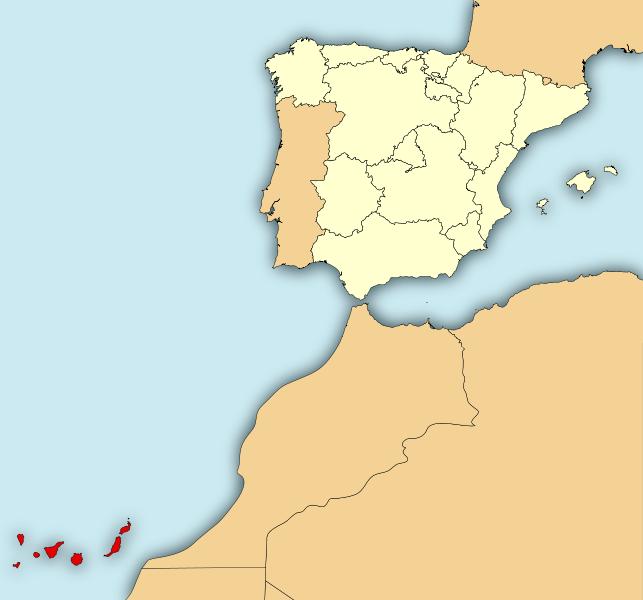 islas canarias mapa los alisios