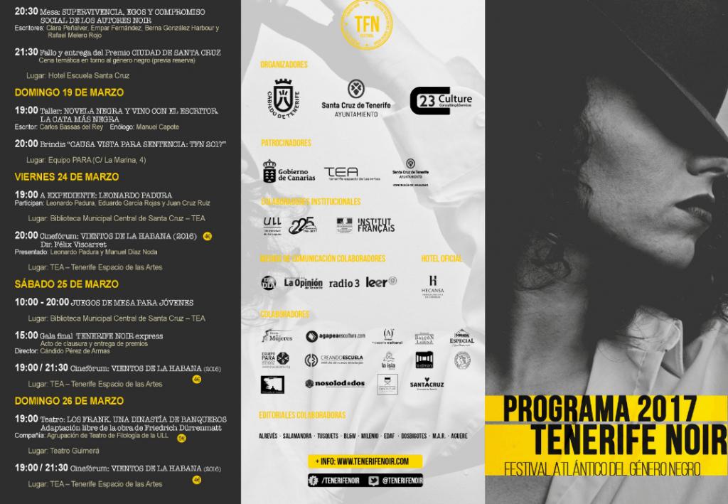 tenerife noir 2017 programa