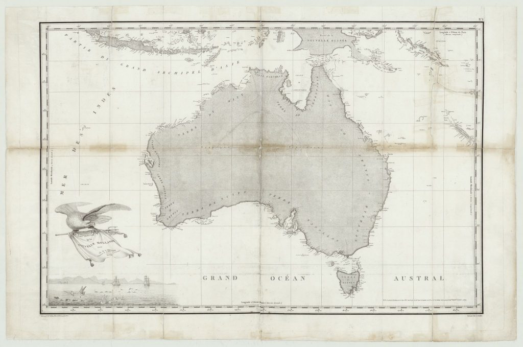 Louis de Freycinet mapa de Australia