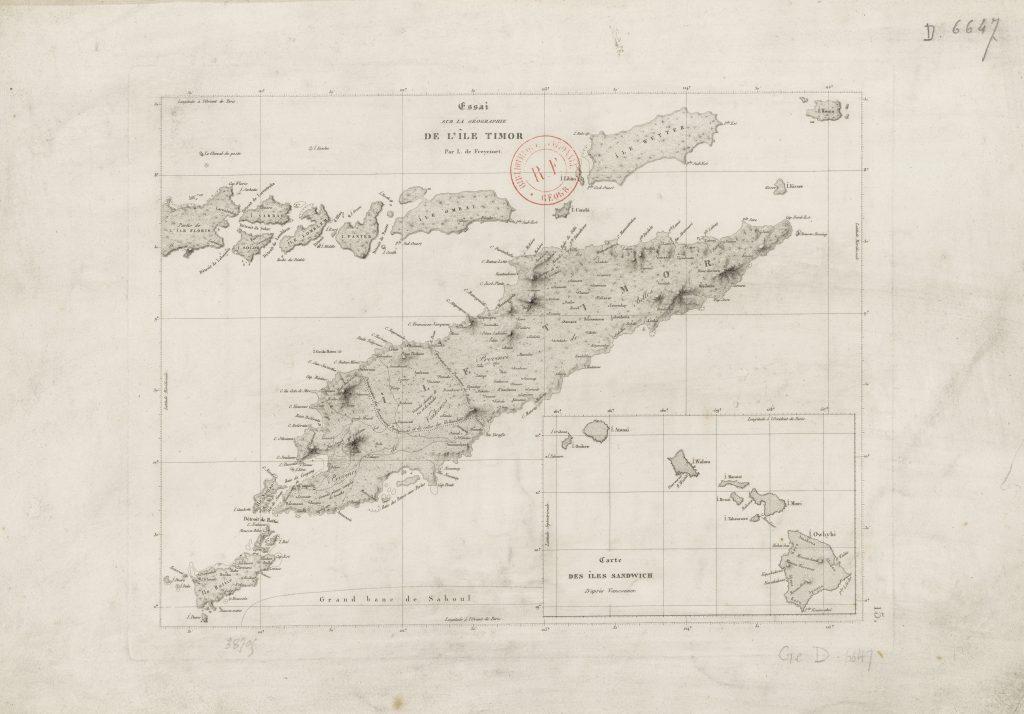 Louis de Freycinet mapa de Timor